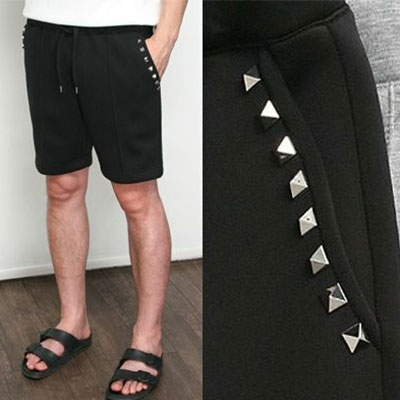 [UNISEX] ポケットラインスタッドネオプレンショートパンツ(2color 2size)