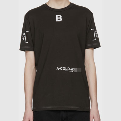[UNIQUE] センターBロゴポイントショートスリーブTシャツ/半袖(2color)