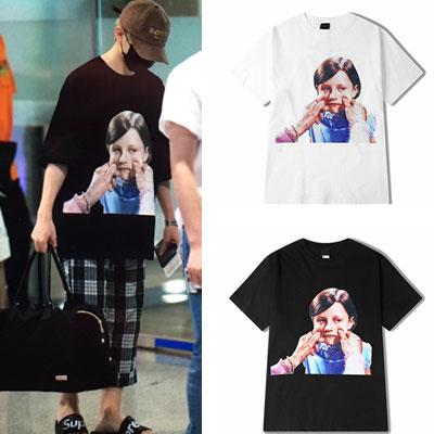 [UNISEX] SEVENTEEN UJI st. ガールフェイスプリントショートスリーブtシャツ/半袖(2color)