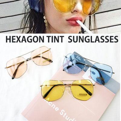 [UNISEX] ヘキサゴンティントカラーサングラス(5color)