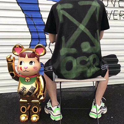 [UNISEX] グリーンペイントショートスリーブtシャツ/半袖(2size)