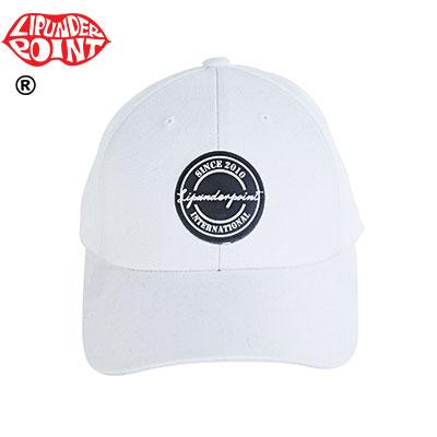 [LIP・UNDER・POINT] スタンプロゴボールキャップ-WHITE/BLACK