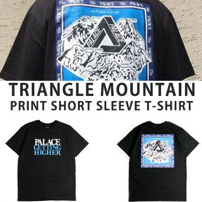 [UNISEX] トライアングルマウンテンプリントショートスリーブTシャツ/半袖