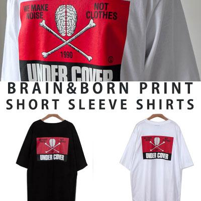 [UNISEX] ブレーンプリントショートスリーブtシャツ/半袖(2color)