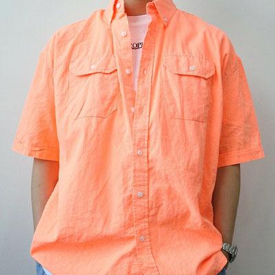 [UNISEX] ネオンカラーリネンショートスリーブシャツ(3color)
