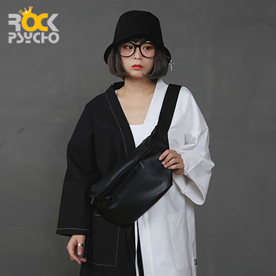 【ROCK PSYCHO】BLACK スリングバッグ