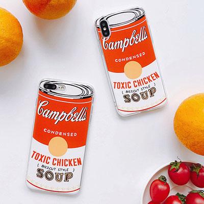 トマトスープ缶 スマホケース/スマホカバー
