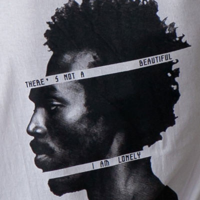 [UNISEX] サイドフェイスプリントショートスリーブtシャツ/半袖(2color)
