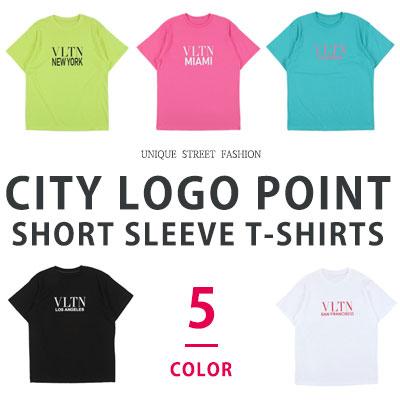 [UNISEX] CITYロゴポイントショートスリーブtシャツ/半袖(5color)