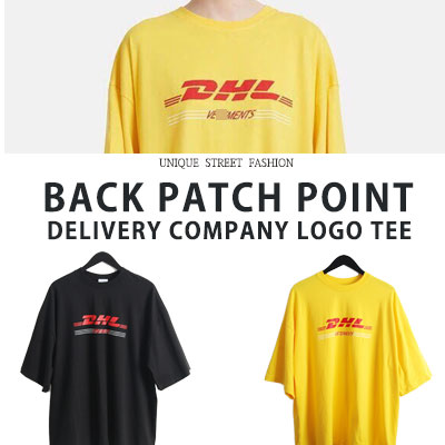 [UNISEX] バックパッチポイントデリバリー・カンパニーロゴtシャツ/半袖(2color)
