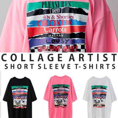 [UNISEX] コラージュアーティストショートスリーブtシャツ/半袖(3color)