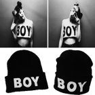 ★当日発送★BOY LONDON st.BOYプリンティングニット帽@海外ファッション