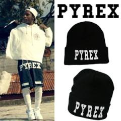 韓国人気私服★PYREX st.プリンティングポイントPYREXニット帽