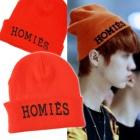 ★当日発送★ 海外セレブ愛用★韓国人気アイドルEXOが着用したHOMIESのオレンジニット帽