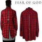 ★★SALE★★Fear of God Los Angeles風裏Zipper Long チェックシャツ(2color)レイヤードしやすいアイテム