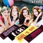 韓国アイドルグッズ通販|韓国ガールグルップのスローガンhigh quality 蛍光応援タオル(4type)