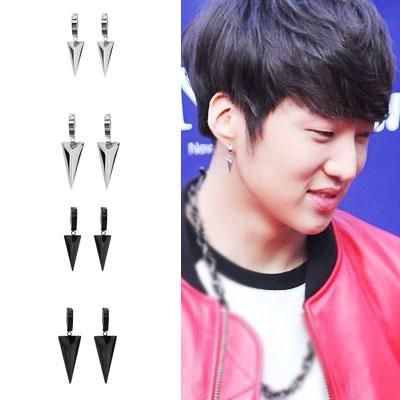 韓国アイドルWINNER私服スタイルアイテム!三角ポイントChic one-touch earring