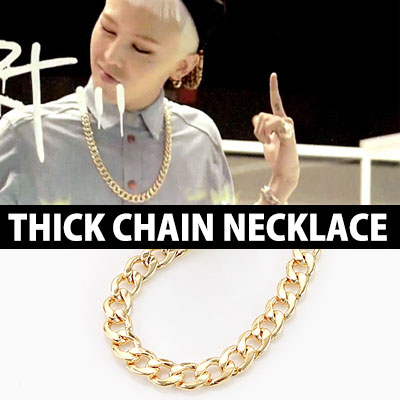 G-DARGON 니가 뭔데ニガモンデ (Who You?),KANYE STYLE! GOLDERN WAVE THICK CHAIN NECKLACE