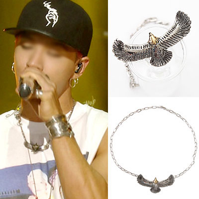 BIGBANG SOL[MADE]活動中のファッションアイテム!イーグルシンプルチェーンネックレスEAGLE SIMPLE CHAIN NECKLACE
