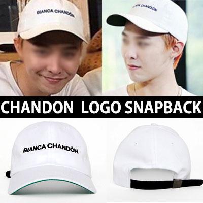 ファッションリーダーG-DRAGON 韓国人気番組[無限挑戦]ファッションスタイル!CHANDONロゴ刺繍 スナップバック/CHANDON SNAPBACK [MADE]