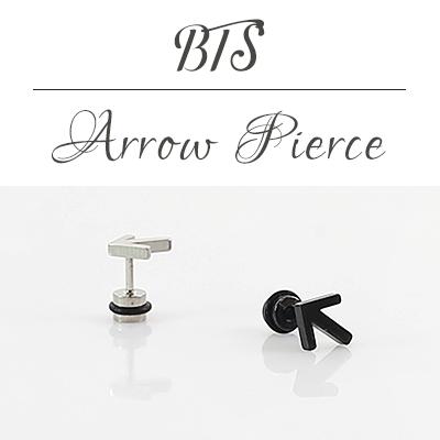 BTS/矢印をモチーフにしたピアス片耳用(1個)/ARROW PIERCE(1ea)
