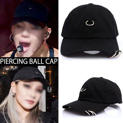 2NE1 CL/ SHINEEテミン/パク・ジェボムなどK-POPスターらに大ブレイク!ピアスボールキャップ(BLACK,WHITE)