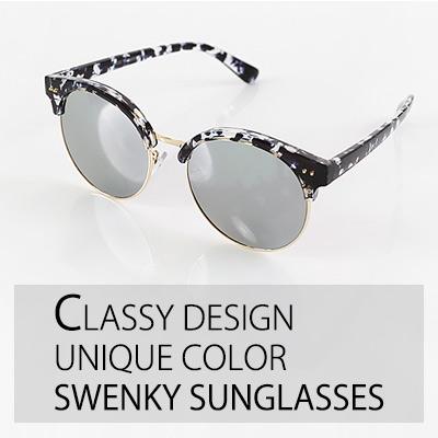 トレンドスタイルのユニークなカラー感のフレーム SWENKY SUNGLASSES/サングラス