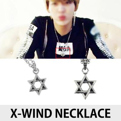 [K-POP アイドルEXOスタイル]X-ウィンドネックレス