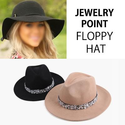 ジュエリーポイントフロッピーハットFASHIONISTA JEWELRY POINT FLOPPY HAT