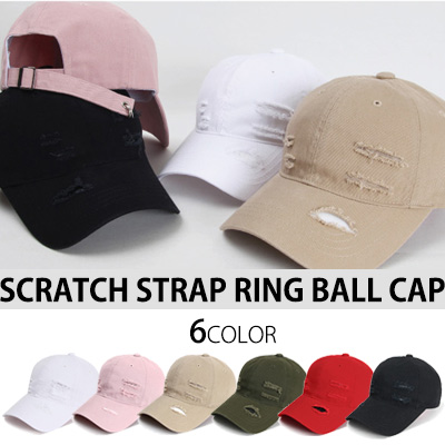 スクラッチストラップリングボールキャップ(6カラー)