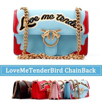 「オーダーメイド」★天然牛革★ラブリーなデザインのバック!LOVE ME TENDER BIRDチェーンショルダーバック
