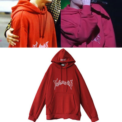★18F/W NEWver.再入荷★グラフィティロゴオーバーサイズフーディー/大きいサイズ/BIG SIZE HOODIE-RED