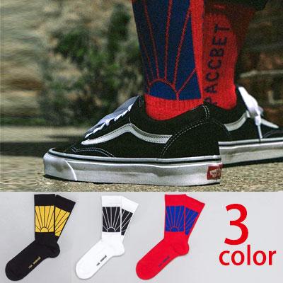 シャイニング太陽パターン3カラーソックス/靴下