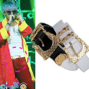 韓国ファッション通販;g-ドラゴン,東方神起,2ne1サンダラ愛用の本革ベルト(男女兼用)