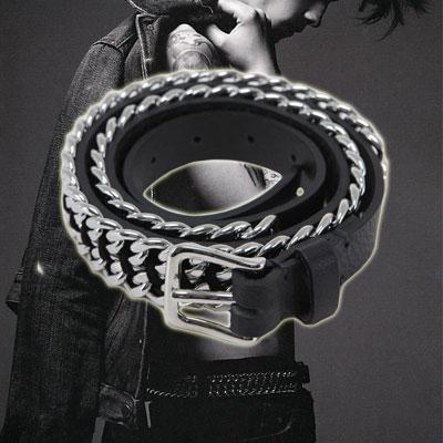 カジュアルスタイルにポイントFASHION ITEM|B@L**** st. Chain Belt(2size)