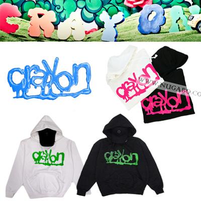 ★当日発送★ クレヨン【crayon】G-Dragonのソロアルバムタイトル曲*クレヨン蛍光ロゴプリンティングパーカ