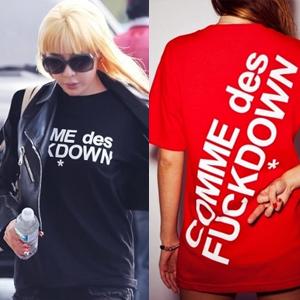★当日発送★ 人気アイテム★2ne1 bom, BIGBANG g-dragon, ファッション誌にもよく登場!! COMME des st** 半袖T-シャツ(2type4color)特価!!!