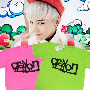 ★当日発送★ BIGBANG クレヨン商品!! gドラゴン CRAYON 応援アイテム カラフルT-シャツ