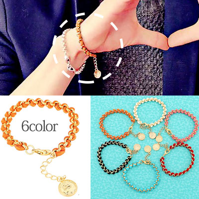 * 韓国アイドルファッション*VIXX style Gold Chain Bracelet (6colors)