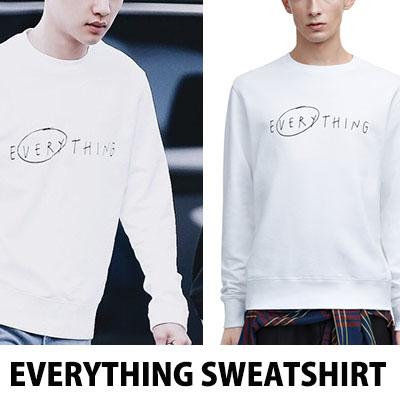 [65%OFF]★当日発送★ BIGBANG VICTORY スンリ/ EXO D.O ディオスタイルのシンプルなロゴが魅力的なeverythingトレーナーTシャツ/スウェットシャツ