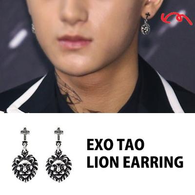 EXOファッションアイテム|タオhongkongツアーSTYLE!!ライオンイヤリングペア(男女兼用)