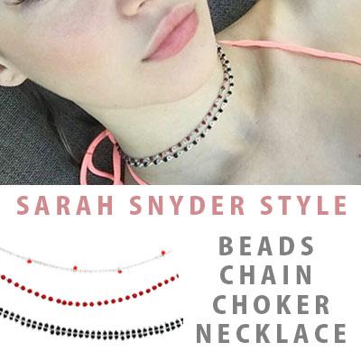SARAH STYLE!ビーズチェーンチョーカー(3TYPE)