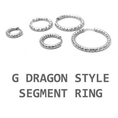 GD STYLE! セグメントリングイヤリング(7mm~20mm)(片耳1個)