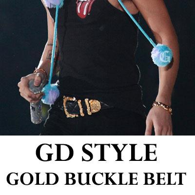 BIGBANG WORLD TOURでジヨンがよく着用したあのベルト!!! 金装バックルキルティングベルト(gold quilting belt)