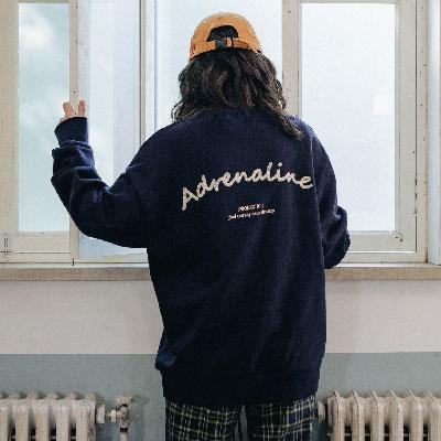 【2XADRENALINE】チェーンバックポイントスウェットシャツ/ネイビー
