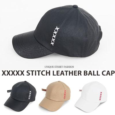 [UNISEX] XXXXX ステッチポイントレジャーボールキャップ(3color)