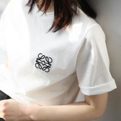 【PAPER MOON】 ロープ刺繍ロゴショートスリーブTシャツ(2color)
