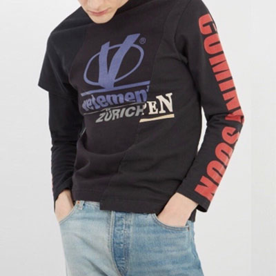 [UNISEX] ハーフレイヤードスタイルロングスリーブTシャツ(2type)