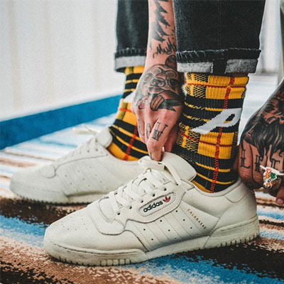 [UNISEX] ビッグロゴポイントチェックソックス/靴下(2color)
