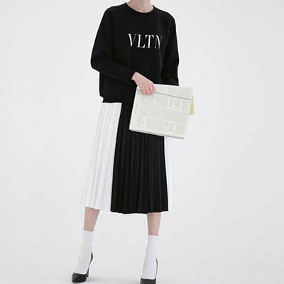 【PAPER MOON】シンプルスリムロゴポイントスウェットシャツ(3color)